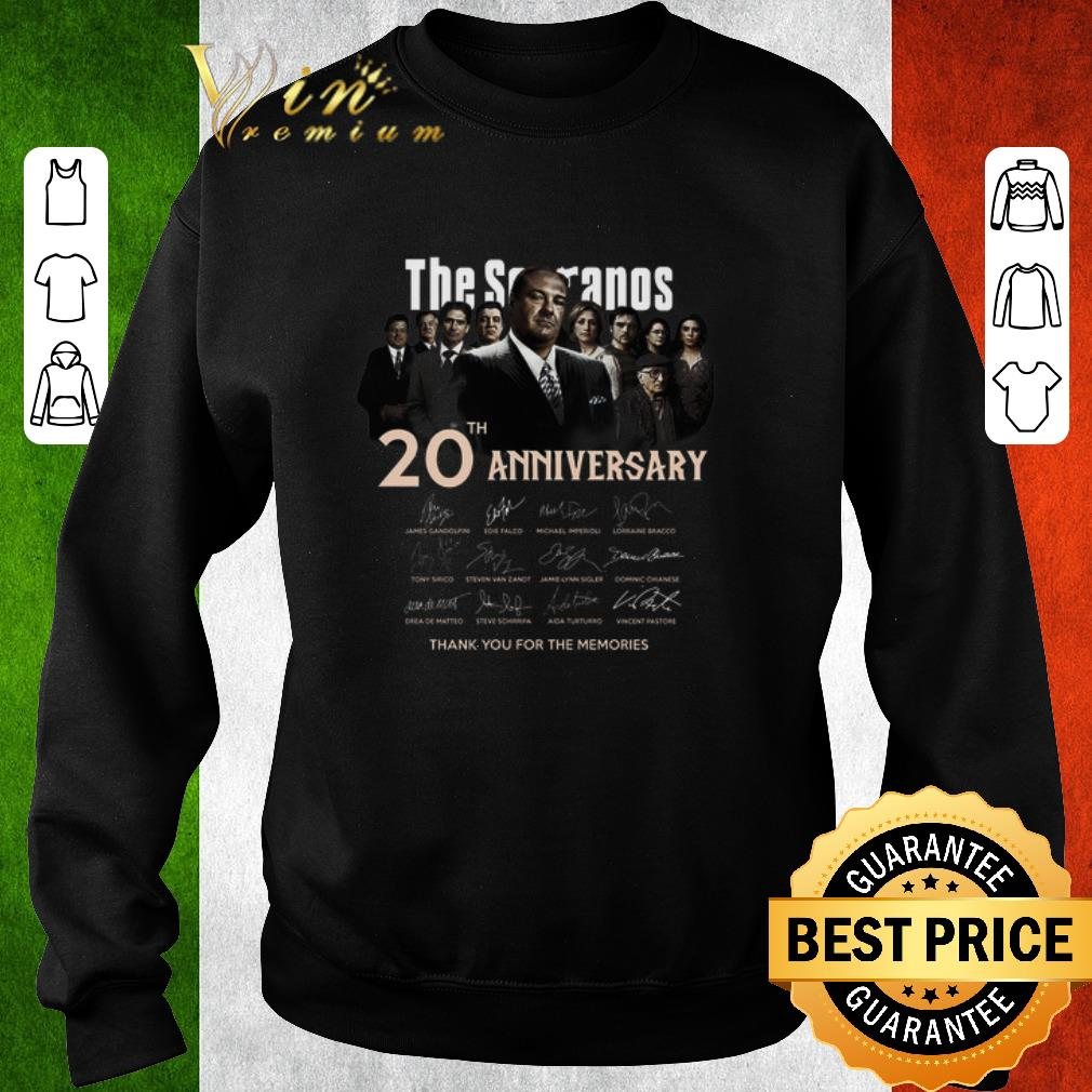 Awesome The Sopranos 20th anniversary signed thank you for the memories shirt