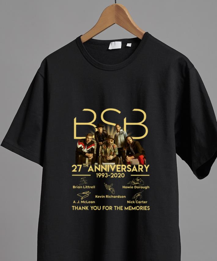 Awesome Backstreet Boy 27th Anniversary Thank You For The Memories Signature Shirt 2 1.jpg