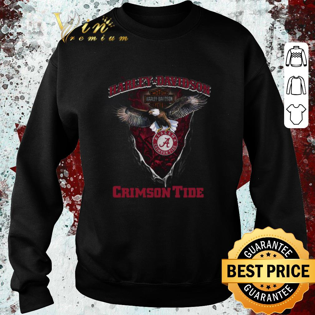 Funny Eagle Harley Davidson Alabama Crimson Tide shirt