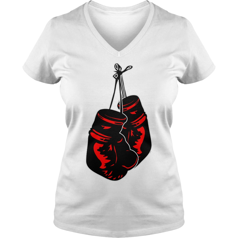 Boxing Gloves Ladies Vneck