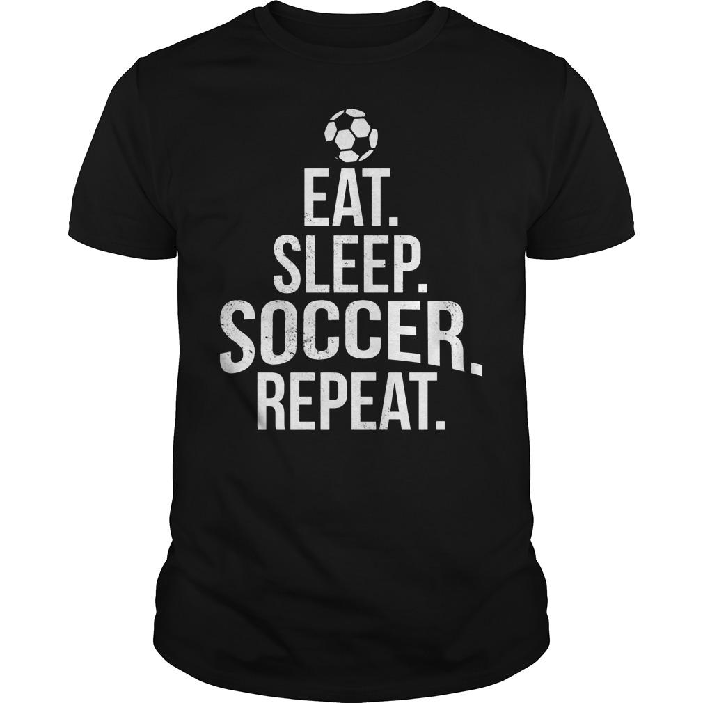 Eat Sleep Soccer Guy Tee