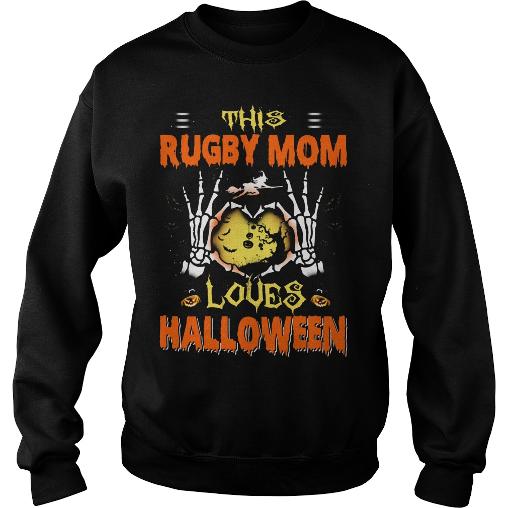 Halloween Tshirt This Rugby Mom Loves Halloween Sweater