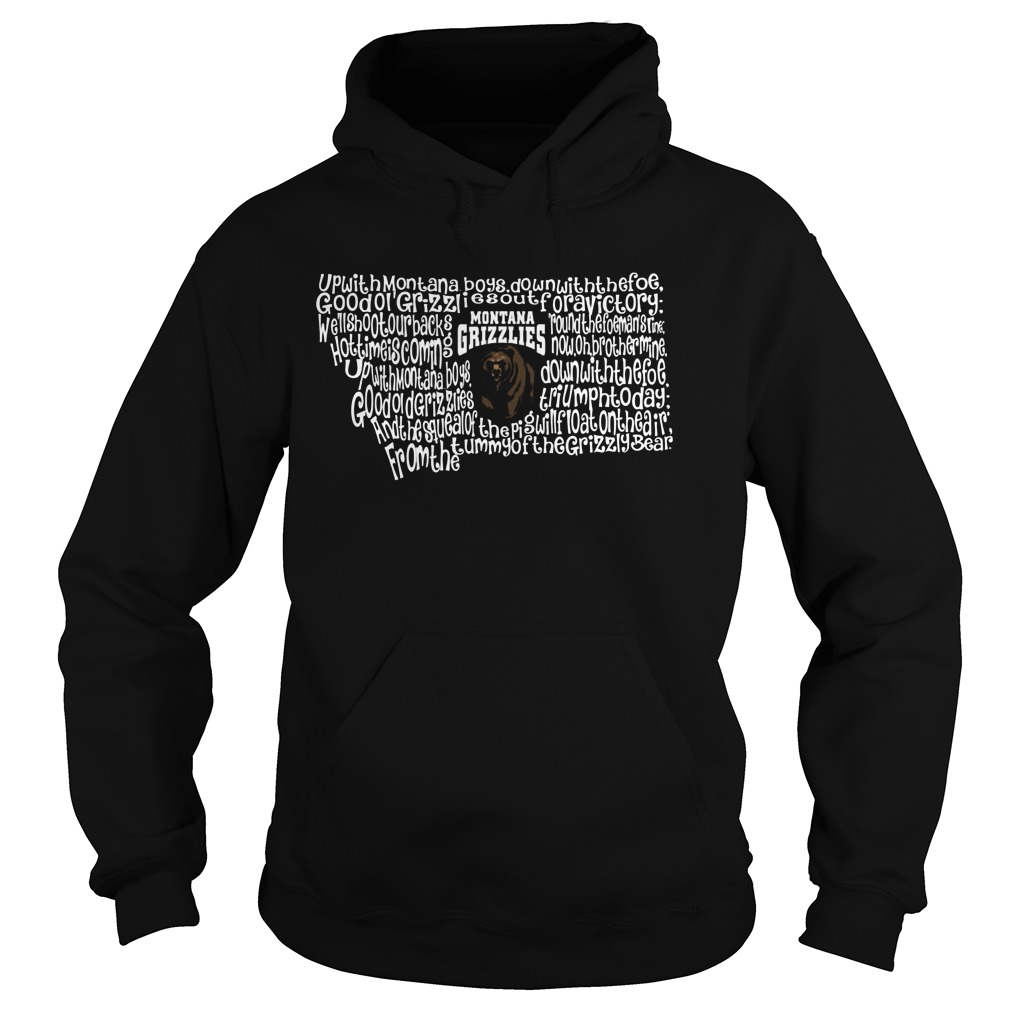 Montana Grizzlies Fight Song Inside State Map Hoodie
