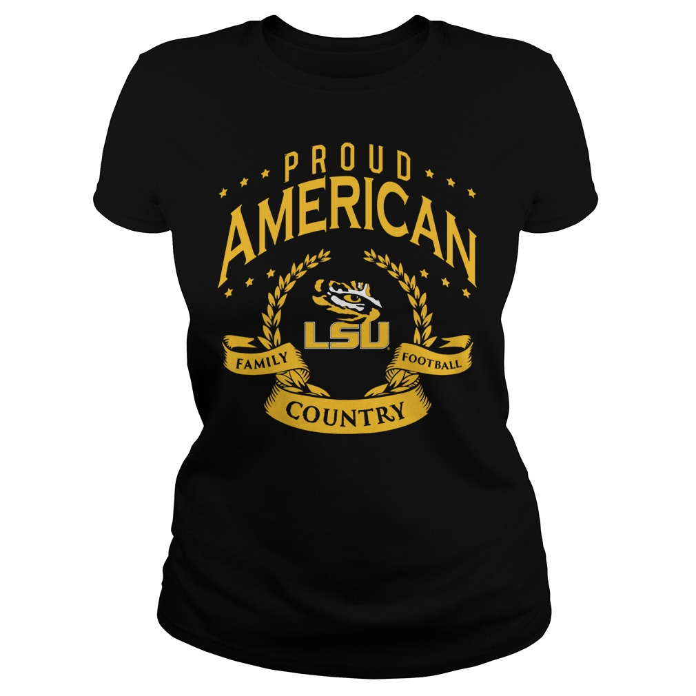 Proud American Lsu Ladies Tee