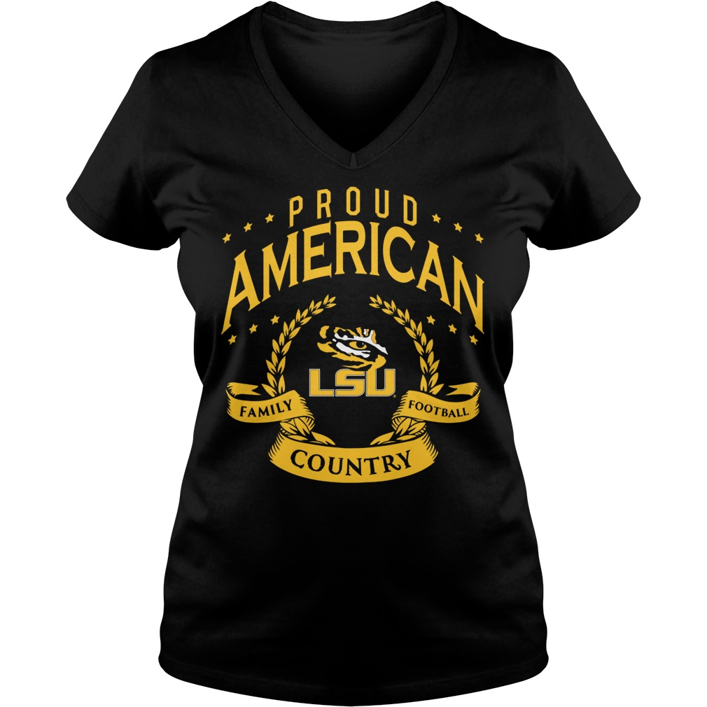 Proud American Lsu Ladies Vneck