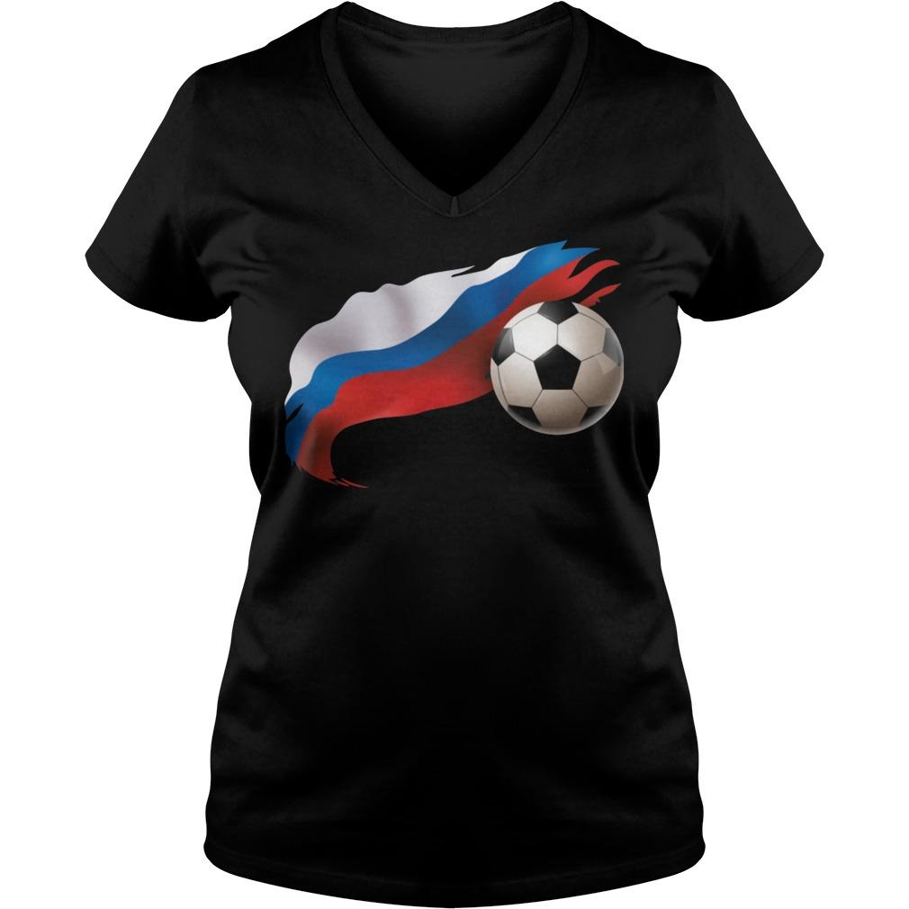 Russia Soccer Ladies Vneck