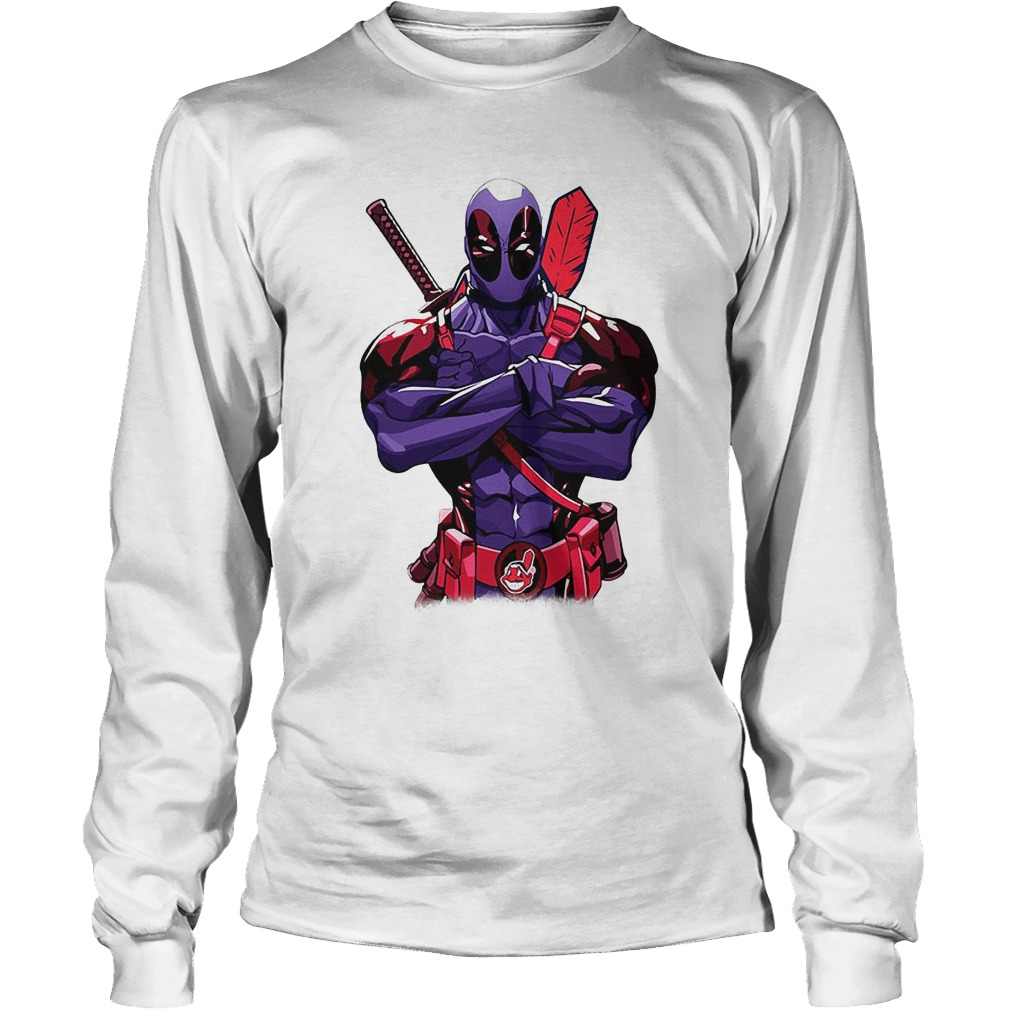 Giants Deadpool Cleveland Indians Longsleeve