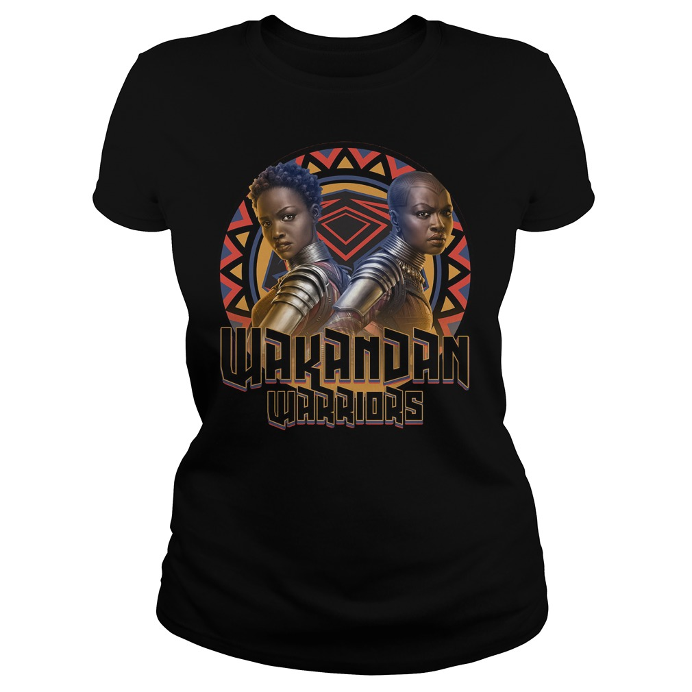 Marvel Black Panther Movie Warrior Circle Graphic Ladies Tee