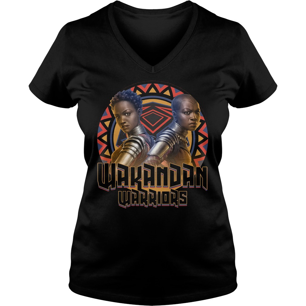 Marvel Black Panther Movie Warrior Circle Graphic Ladies Vneck