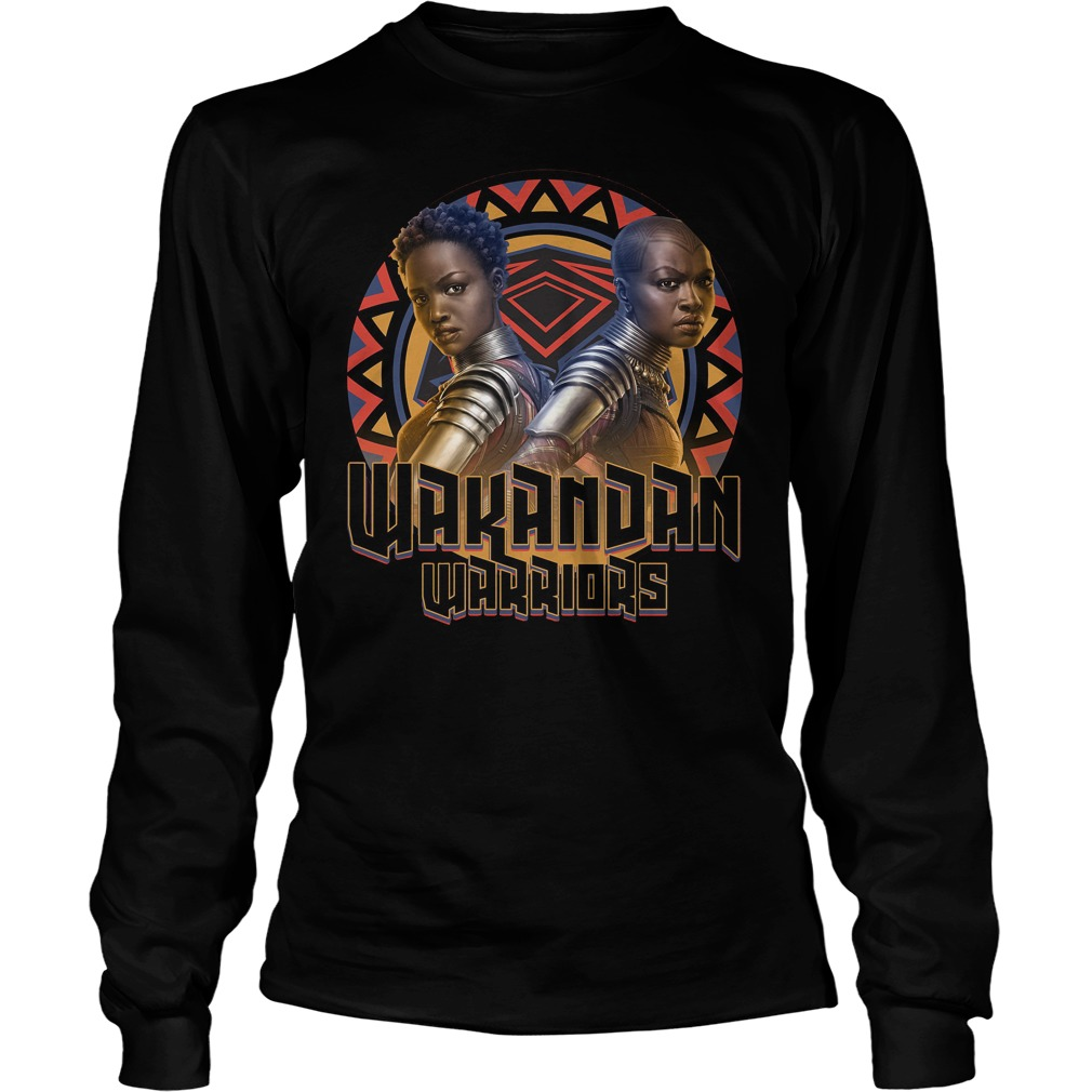 Marvel Black Panther Movie Warrior Circle Graphic Longsleeve