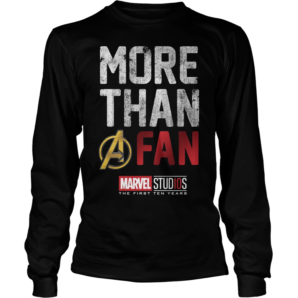 Marvel Studios Ten Years More Than A Fan Graphic Longsleeve