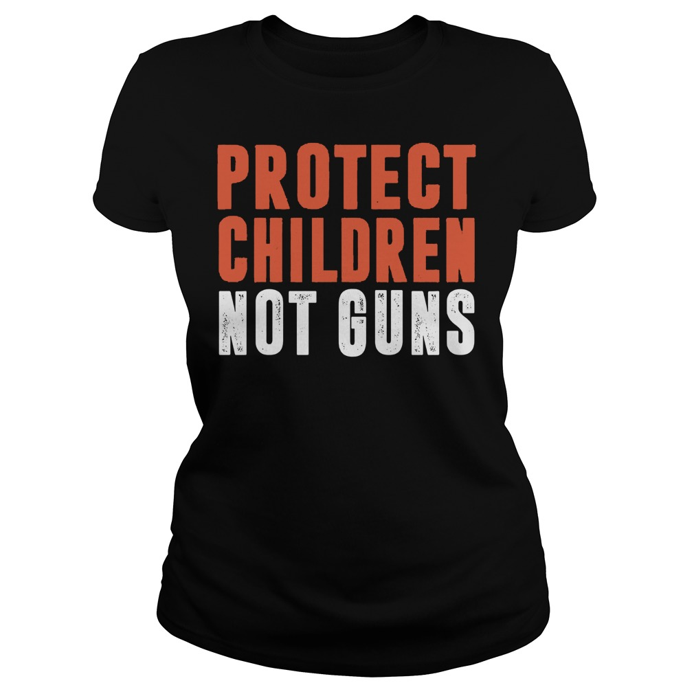 Protect Children Not Guns Ladies Tee