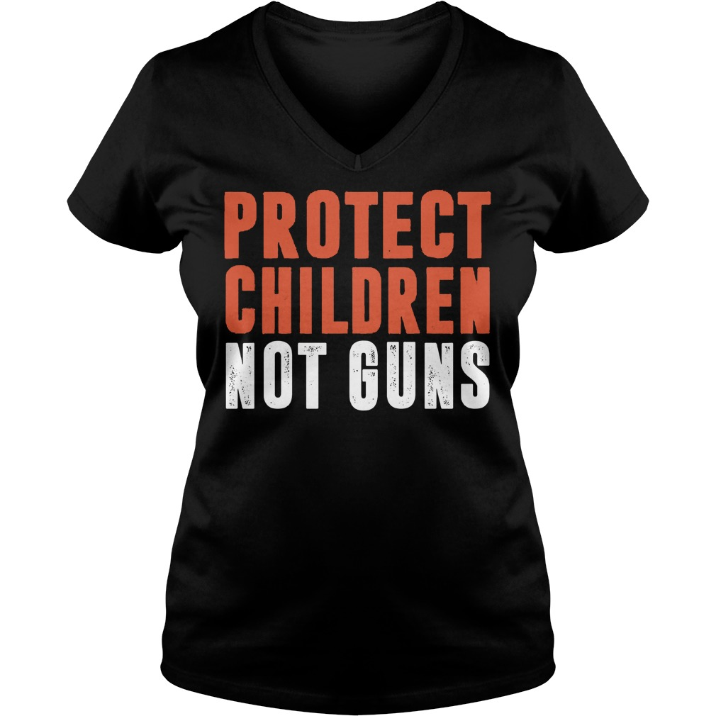 Protect Children Not Guns Ladies Vneck