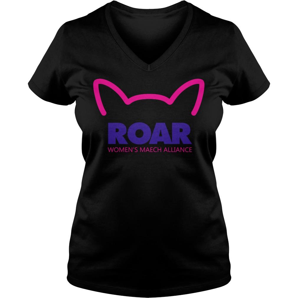 Pussy Roar Womens March Alliance Ladie Vneck