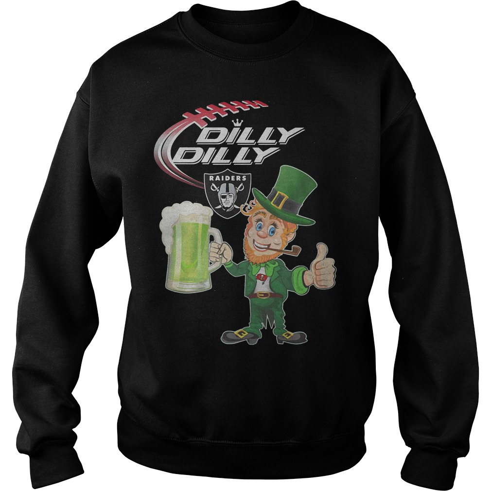 Raider Dilly Dilly Leprechaun St Patricks Day Shirt Sweater
