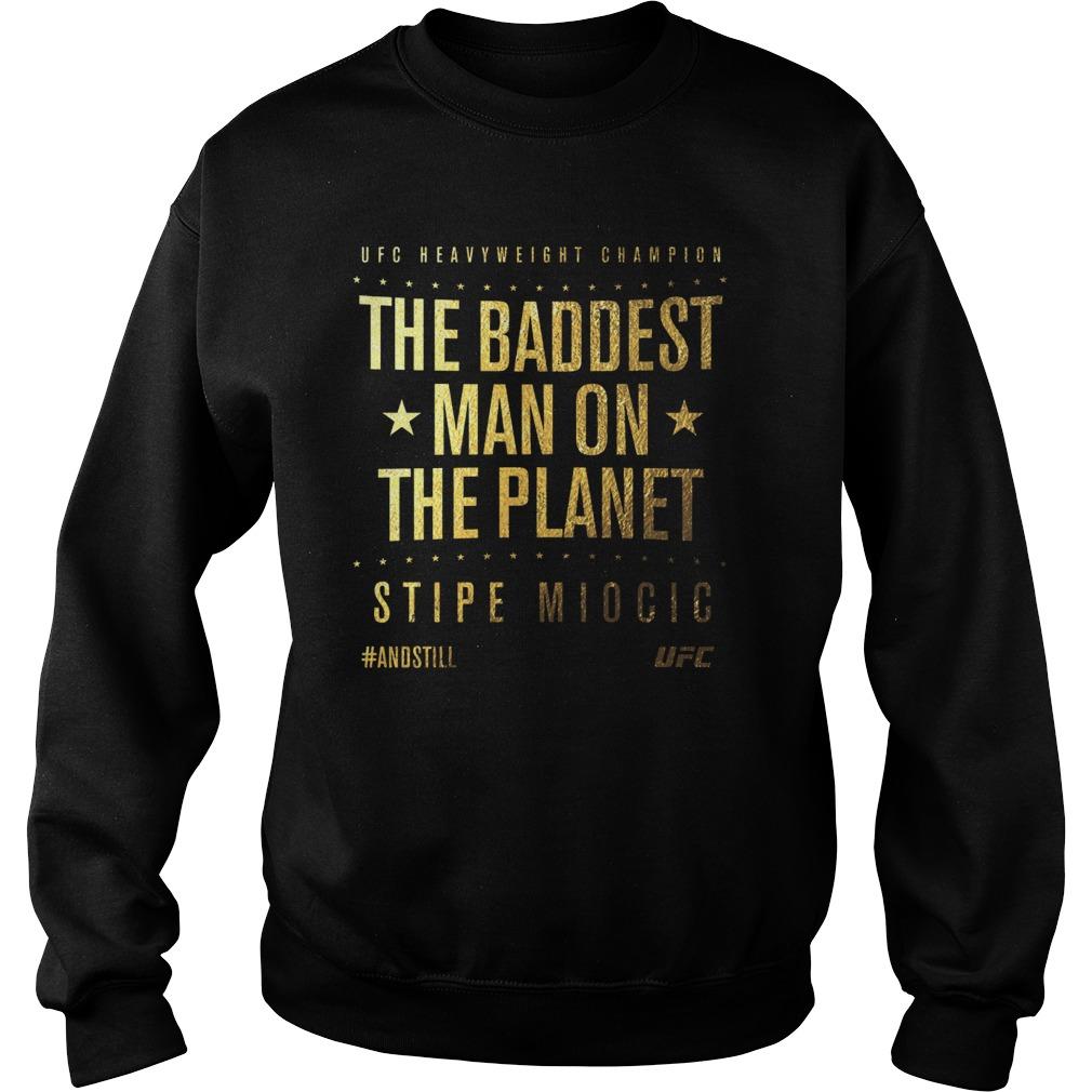 Ufc Stipe Miocic Andstill Heavyweight Champion Gold Winners Sweater