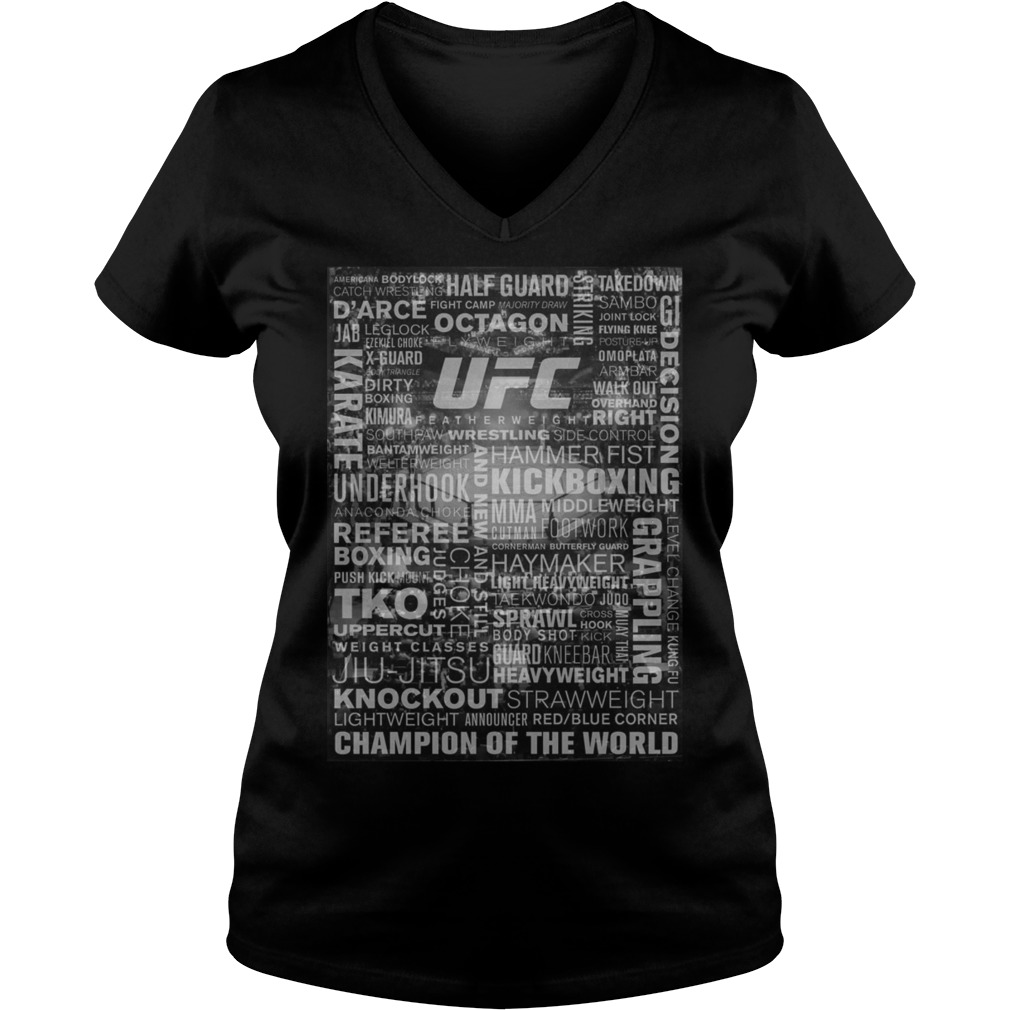 Ufc Terminology All Over Print Vneck