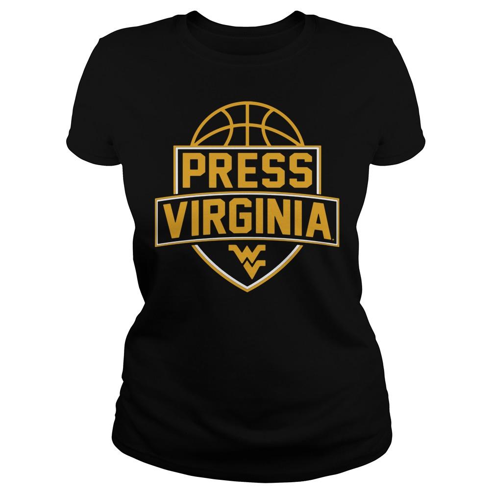 West Virginia Mountaineerspress Virginia Basketball Ladies Tee