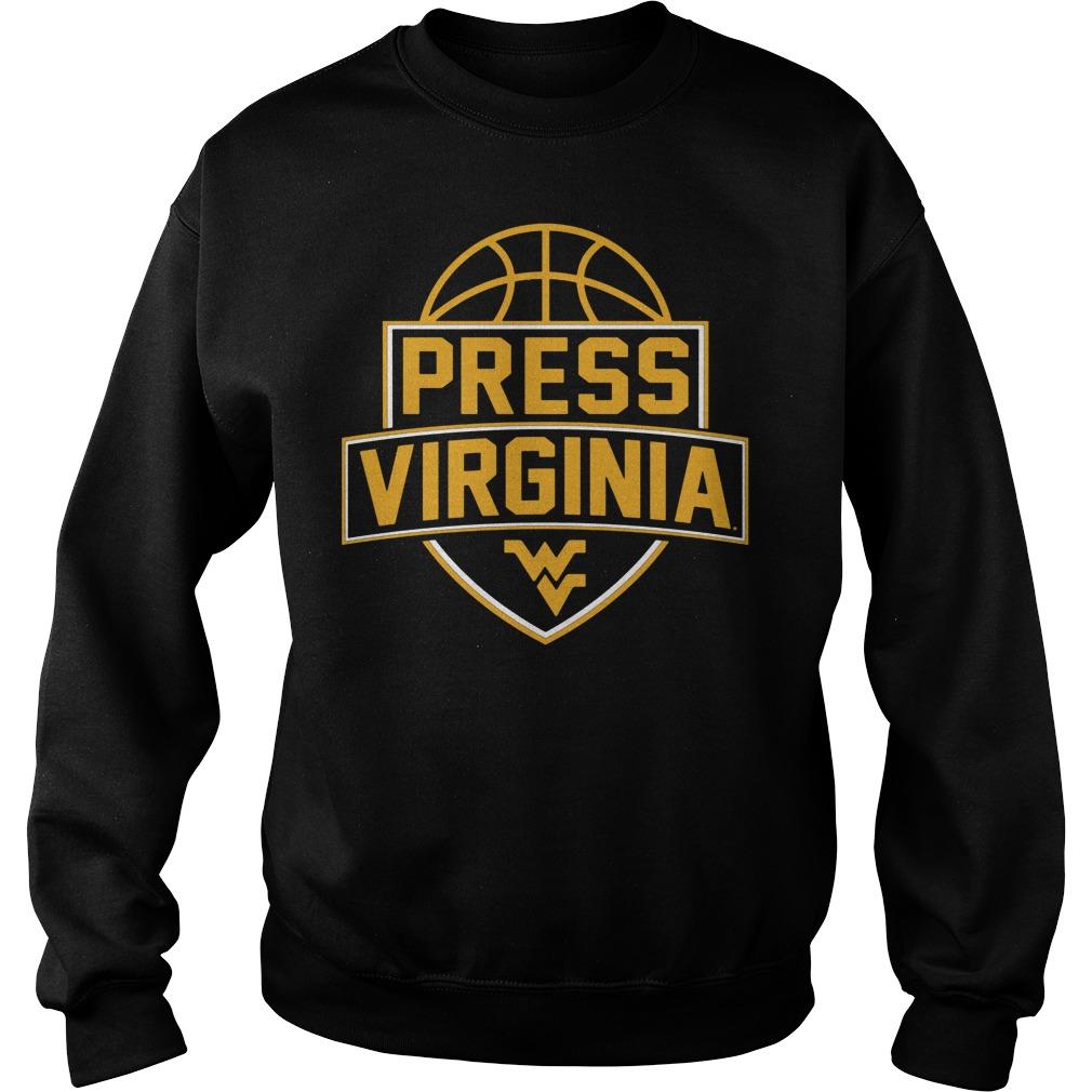 West Virginia Mountaineerspress Virginia Basketball Sweater