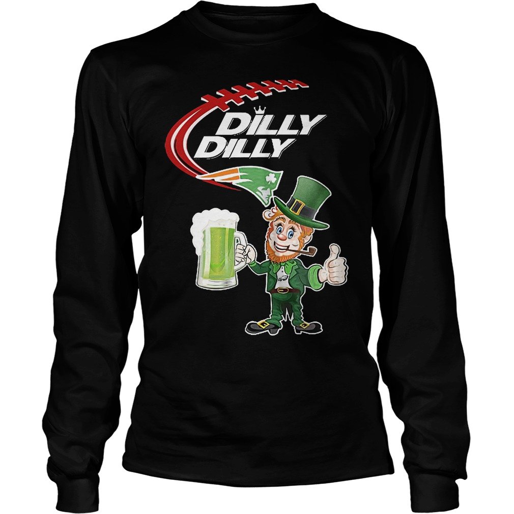 Nfl Patriots Dilly Dilly St Patrick Day Longsleeve