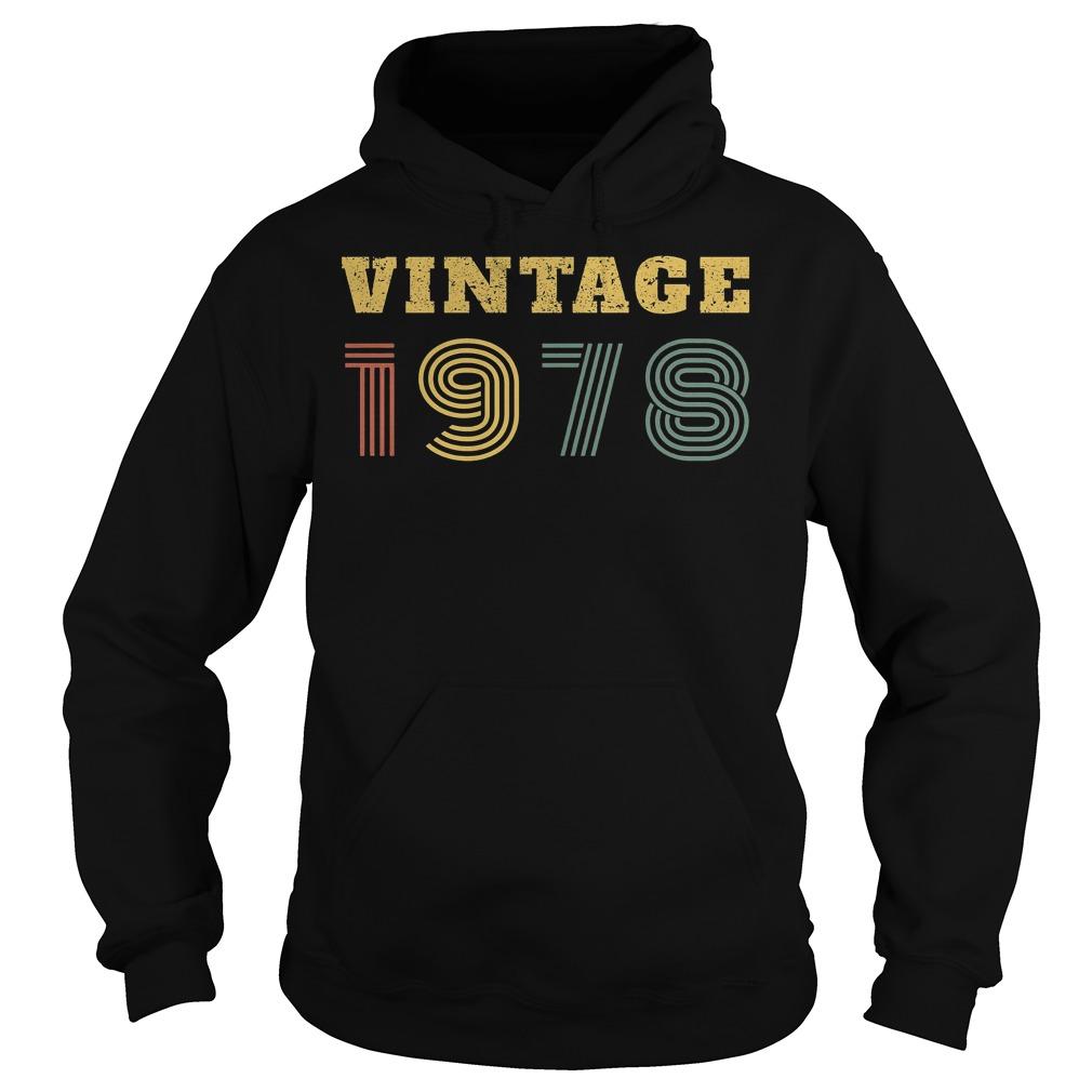 40th Birthday Vintage 1978 Hoodie