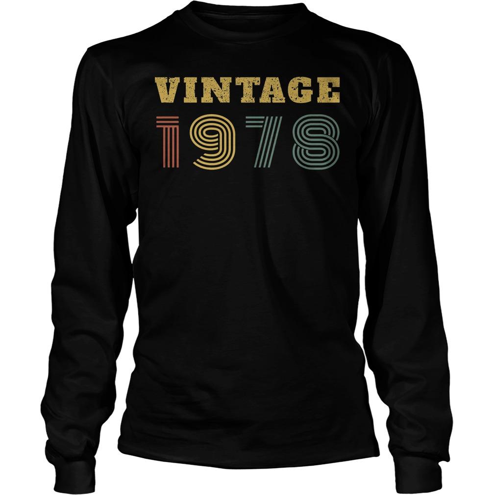 40th Birthday Vintage 1978 Longsleeve