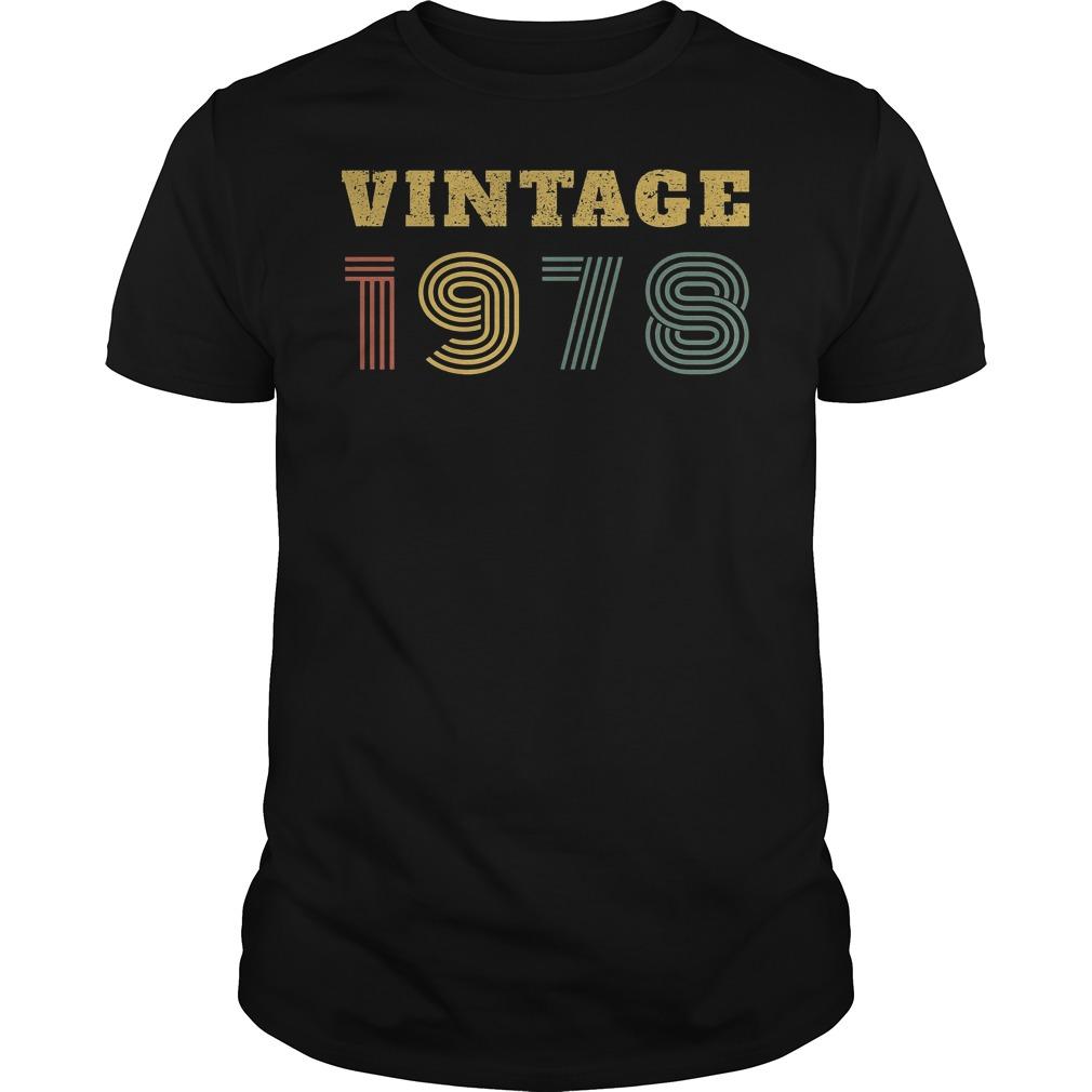 40th Birthday Vintage 1978 Shirt