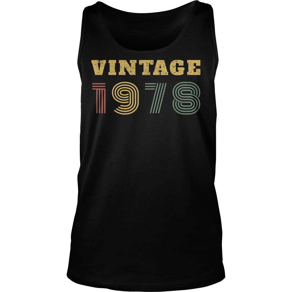 40th Birthday Vintage 1978 Tanktop