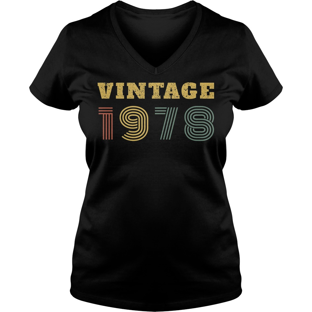 40th Birthday Vintage 1978 V Neck