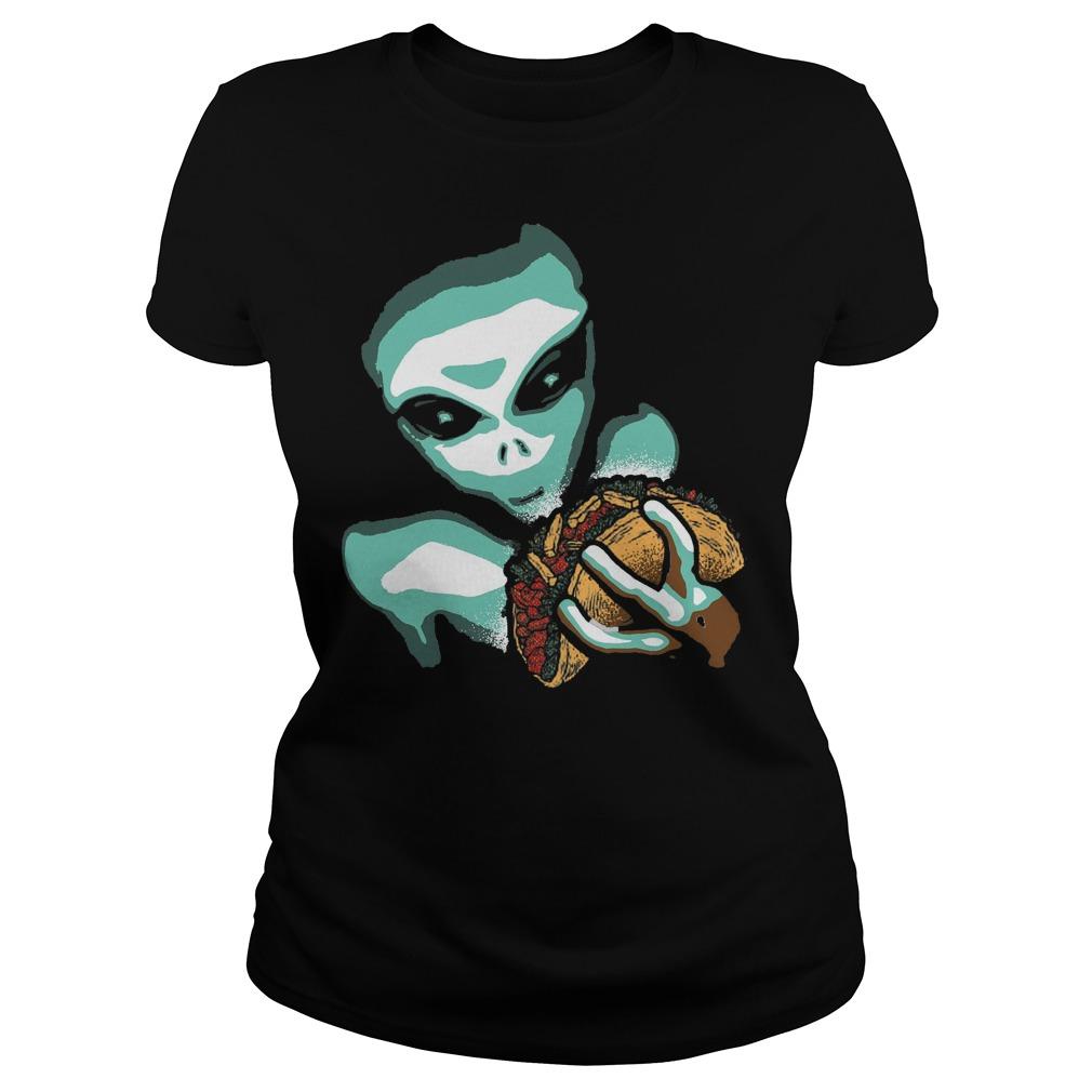 Funny Taco Alien Ladies