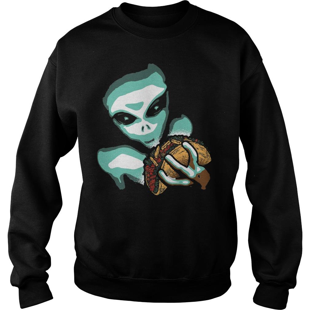 Funny Taco Alien Sweater
