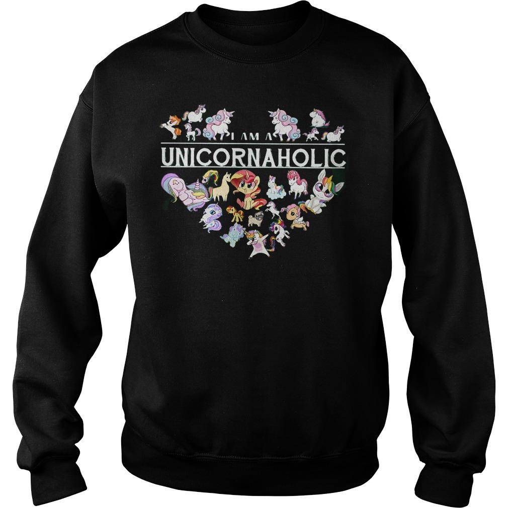 I Am A Unicornaholic Unicorn Aholic Sweater