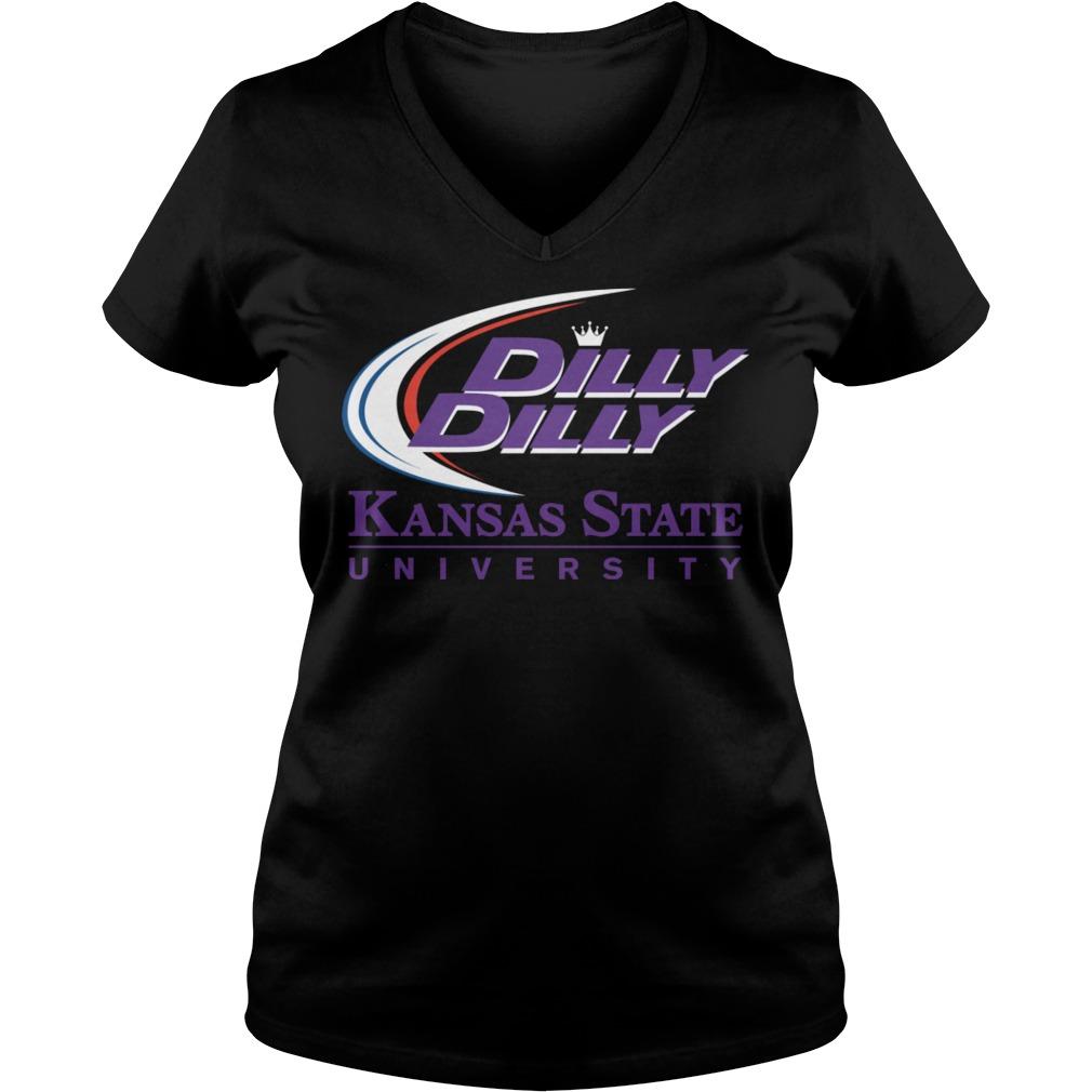K State Ksu Kansas State University Dilly Dilly V Neck