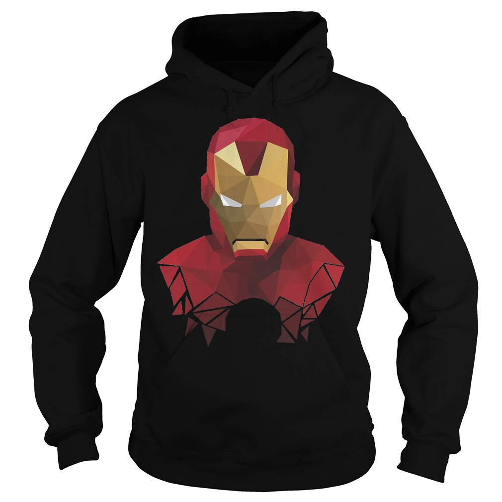 Marvel Iron Man Geometric Prism Shape Art Graphic Hoodie