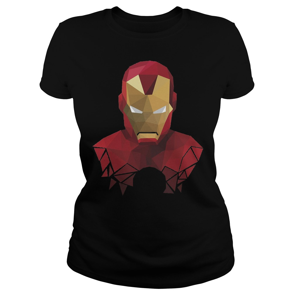 Marvel Iron Man Geometric Prism Shape Art Graphic Ladies