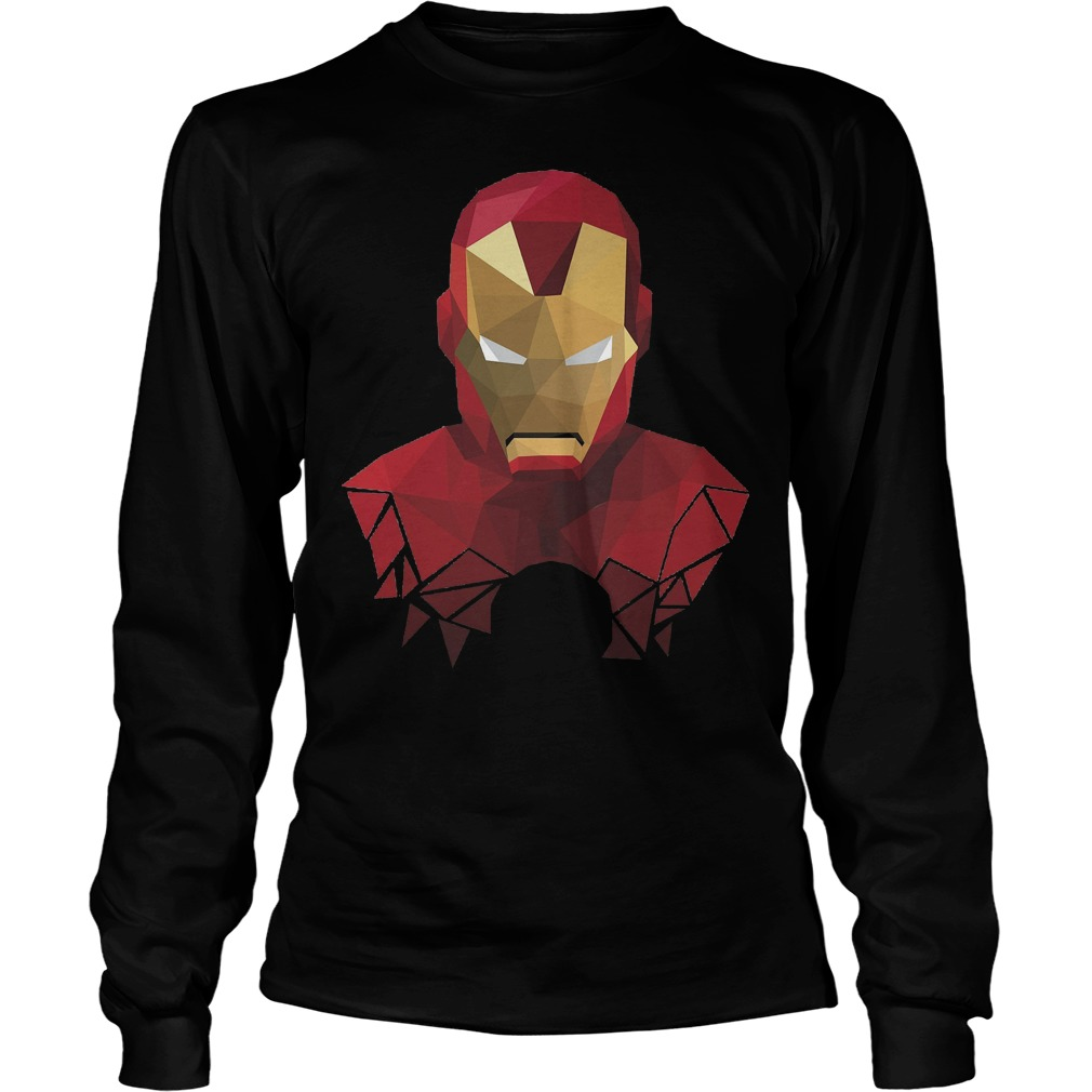 Marvel Iron Man Geometric Prism Shape Art Graphic Longsleeve