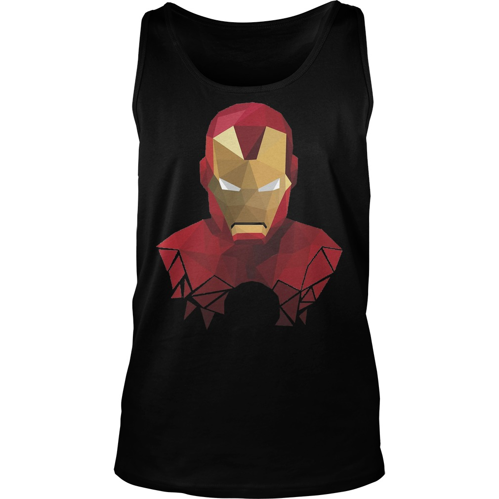Marvel Iron Man Geometric Prism Shape Art Graphic Tanktop