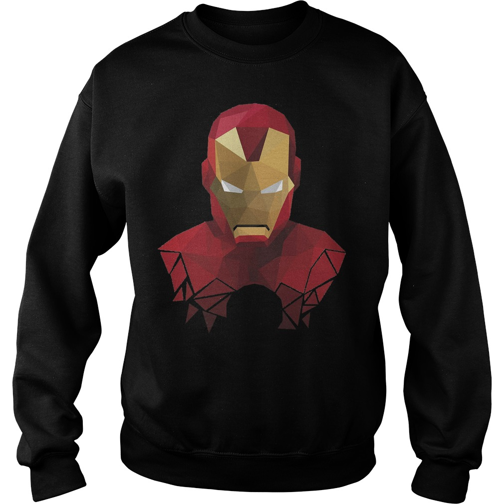 Marvel Iron Man Geometric Prism Shape Art Graphic Sweater