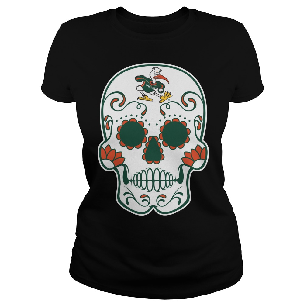Miami Hurricanes Sugarskull Ladies
