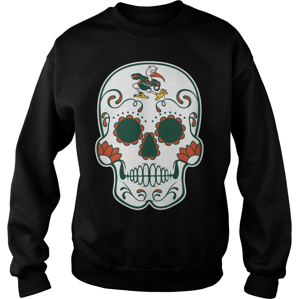 Miami Hurricanes Sugarskull Sweater