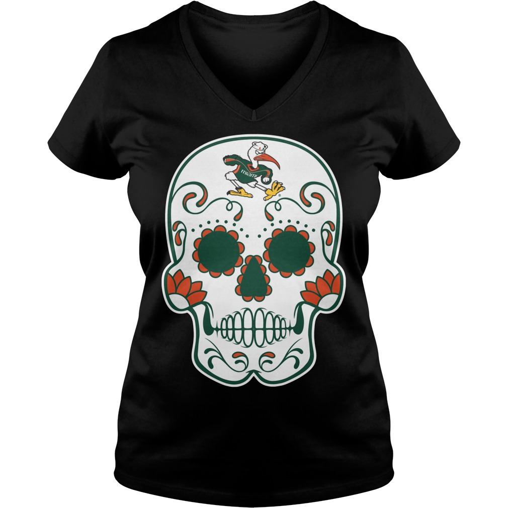 Miami Hurricanes Sugarskull V Neck
