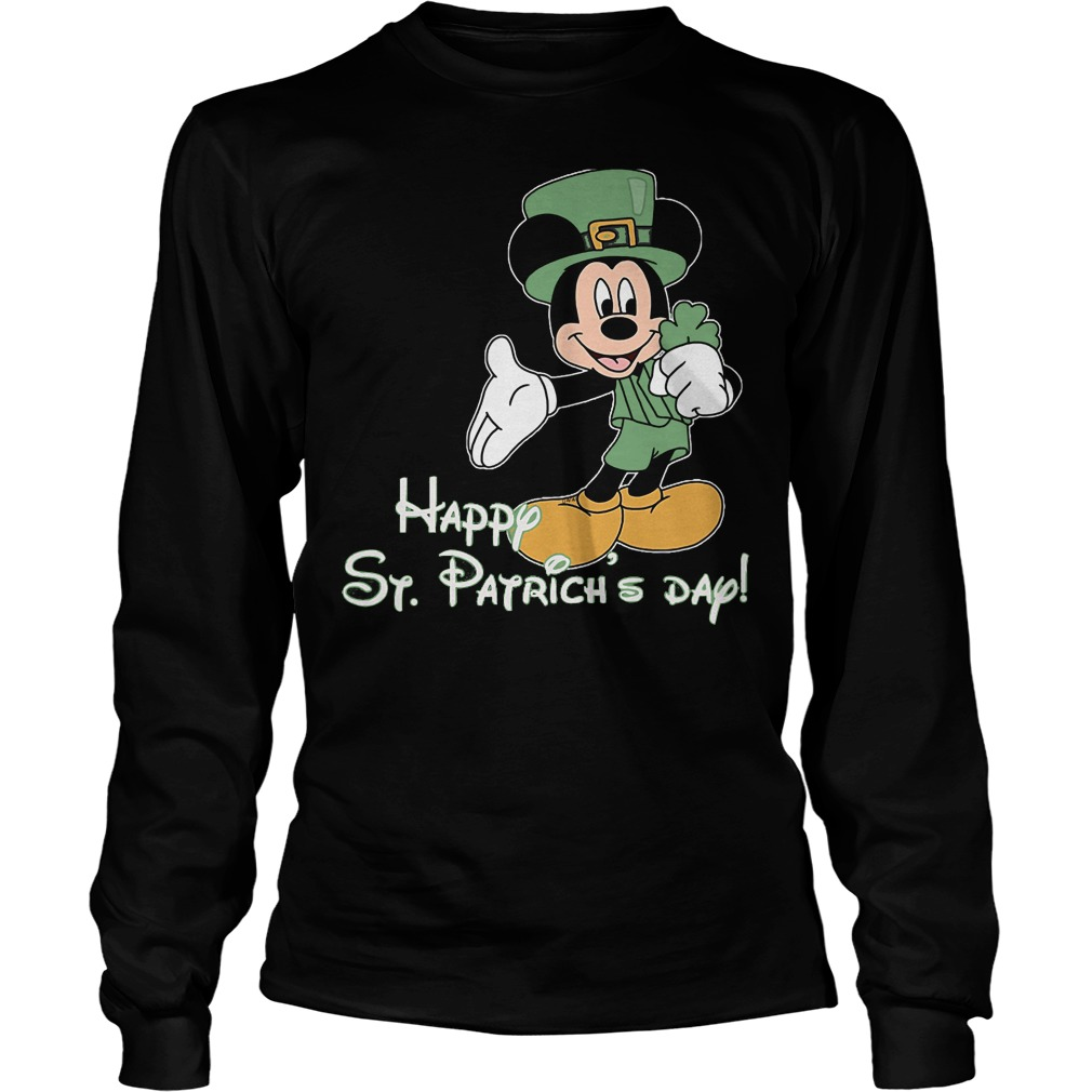 Mickey Mouse Happy St Patrick Day Longsleeve