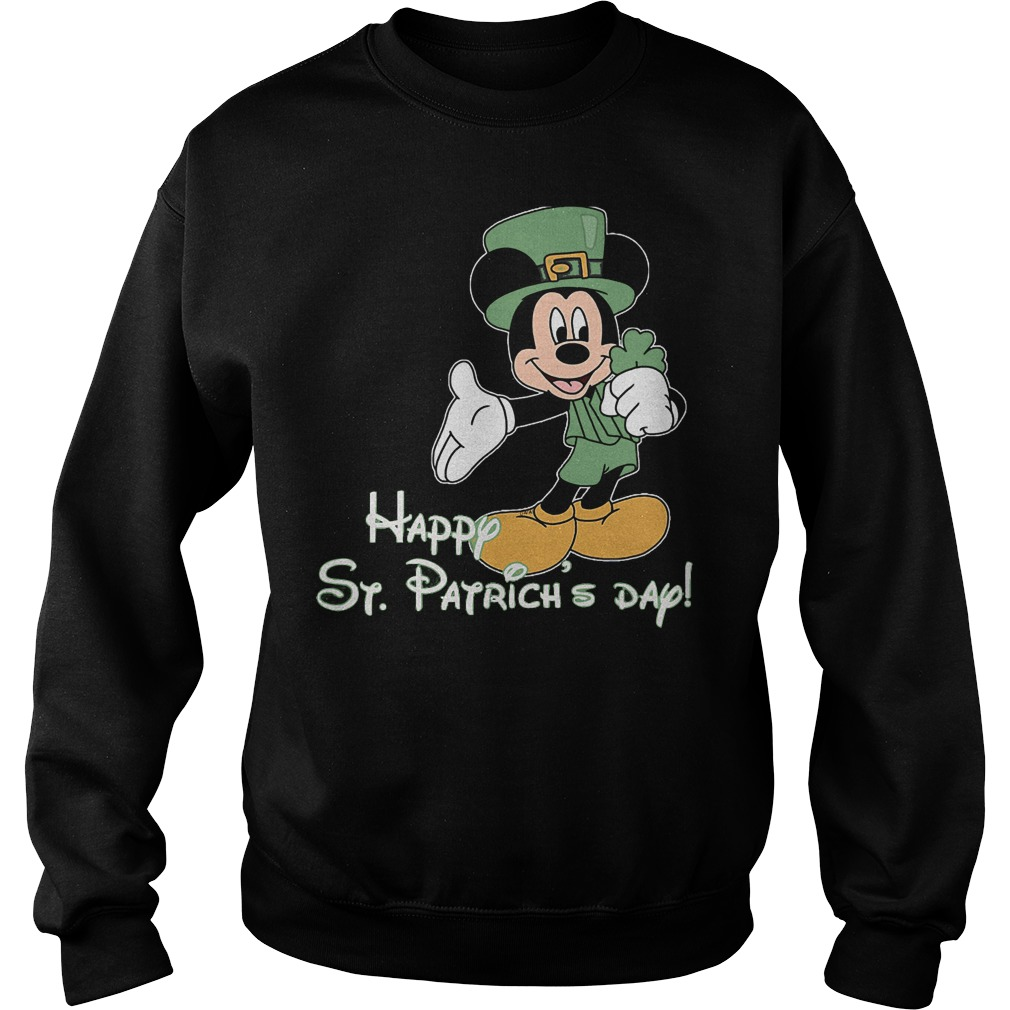 Mickey Mouse Happy St Patrick Day Sweater