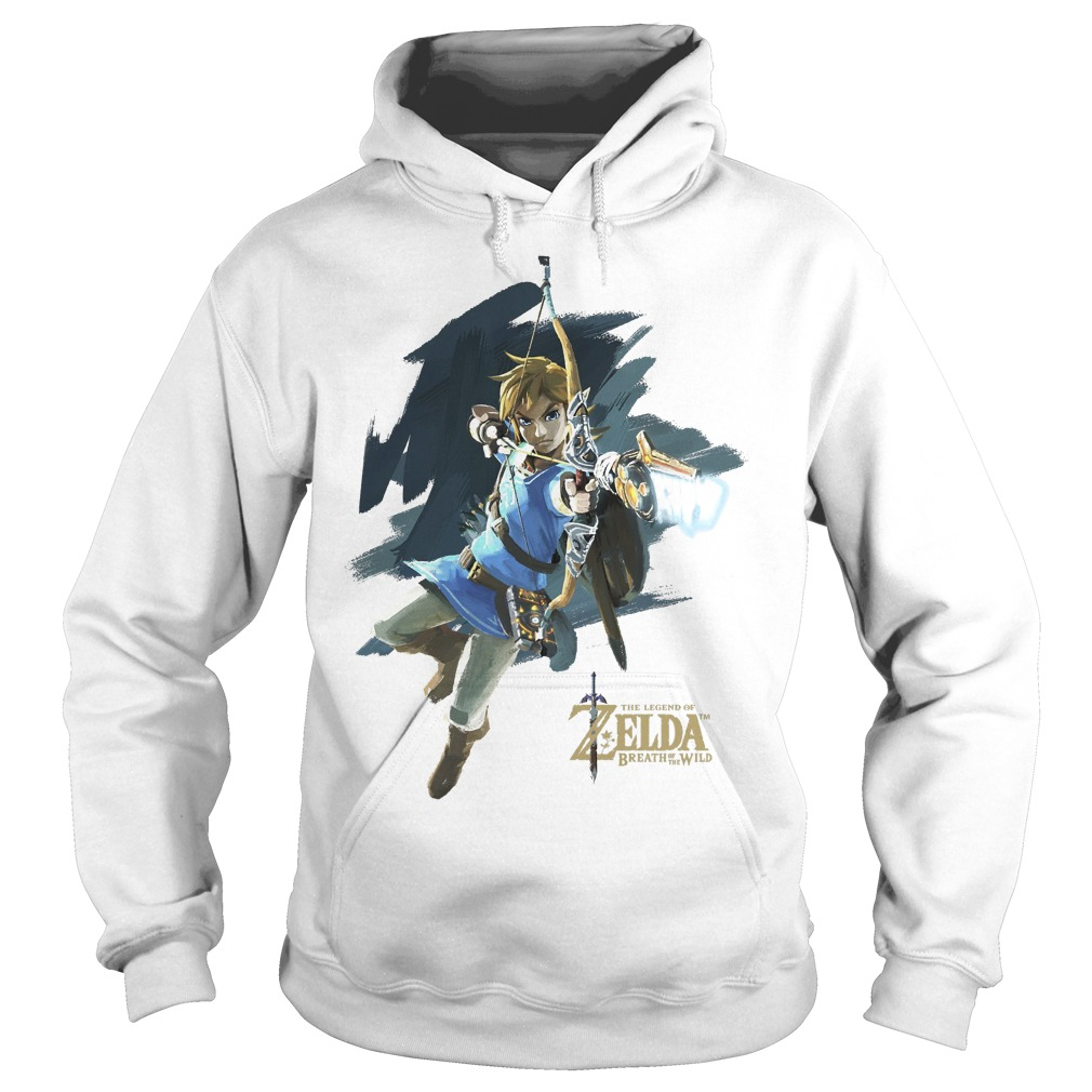 Nintendo Zelda Breath Of The Wild Link Jump Shot Hoodie