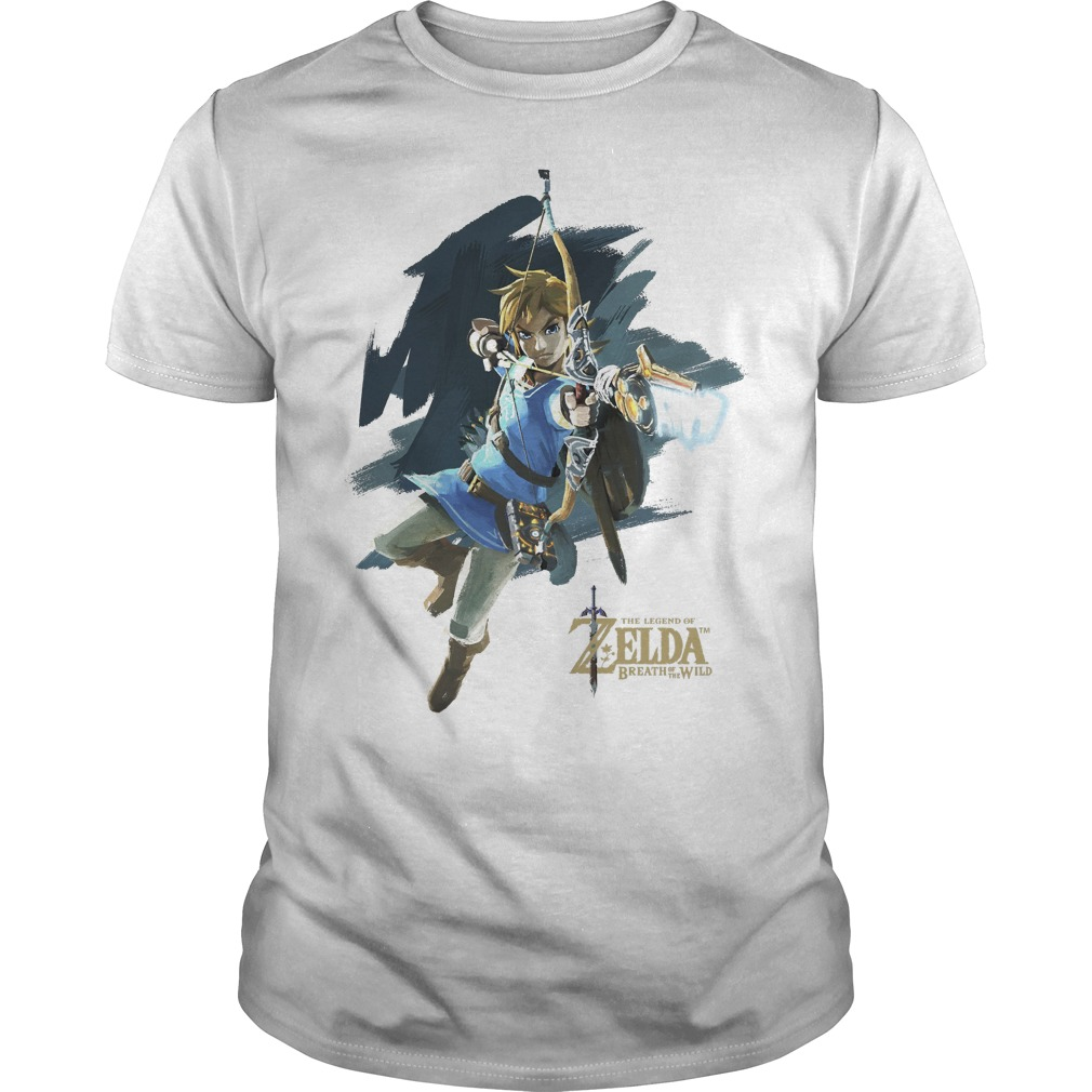Nintendo Zelda Breath Of The Wild Link Jump Shot Shirt