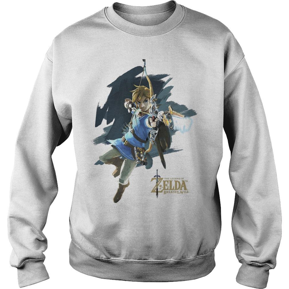 Nintendo Zelda Breath Of The Wild Link Jump Shot Sweater
