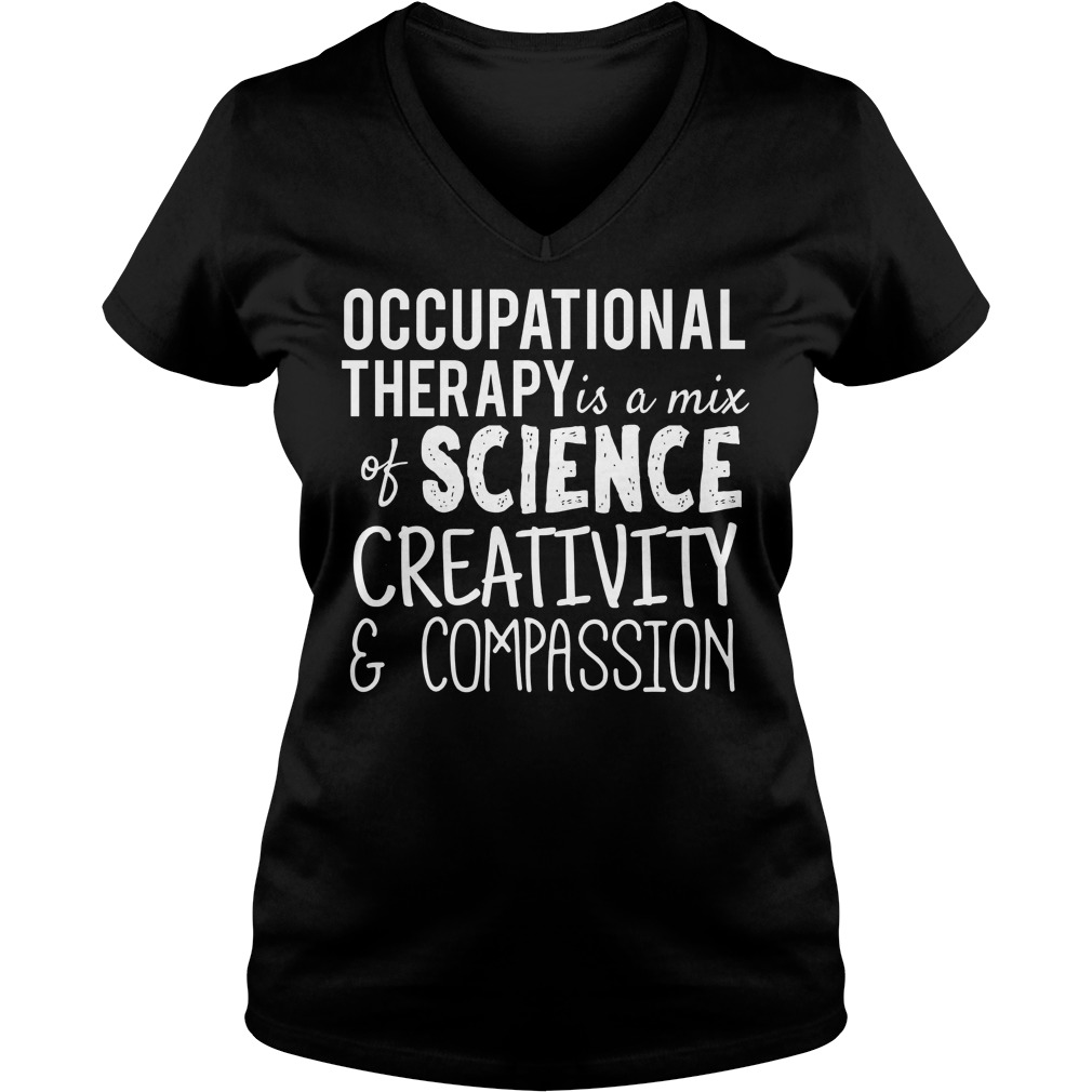 Occupational Therapy Science Creativity Compassion V Neck