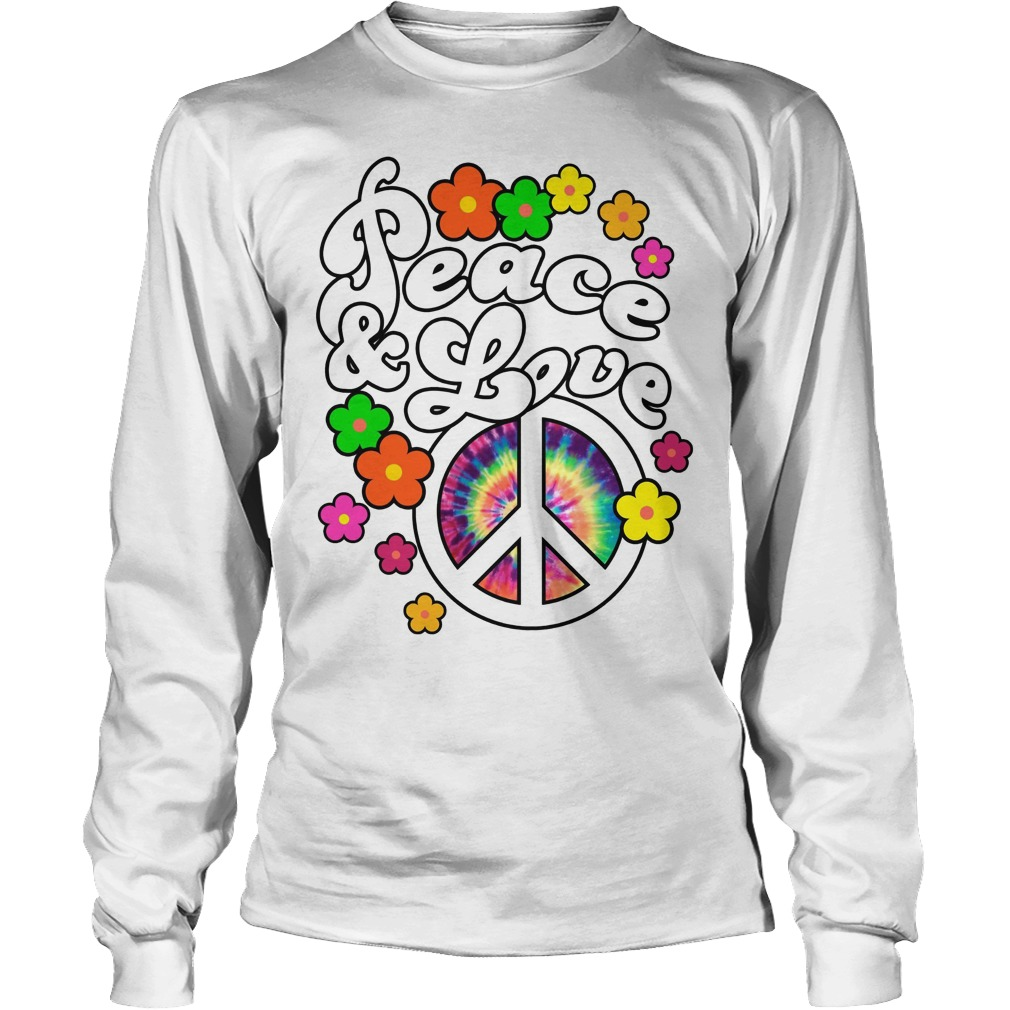 Peace And Love Tie Dye Peace Longsleeve