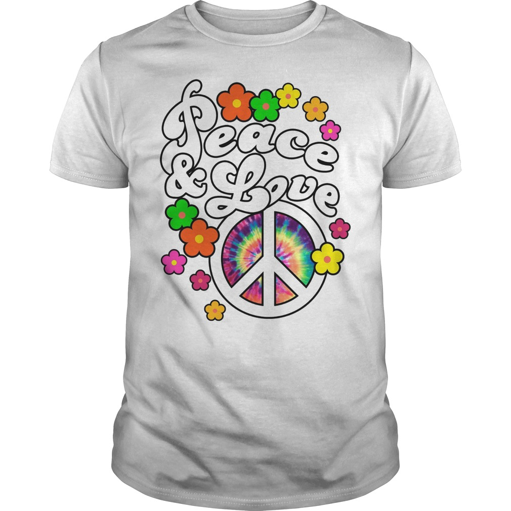 Peace And Love Tie Dye Peace Shirt