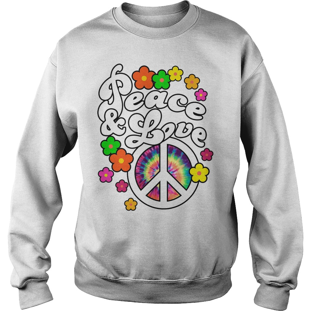 Peace And Love Tie Dye Peace Sweater